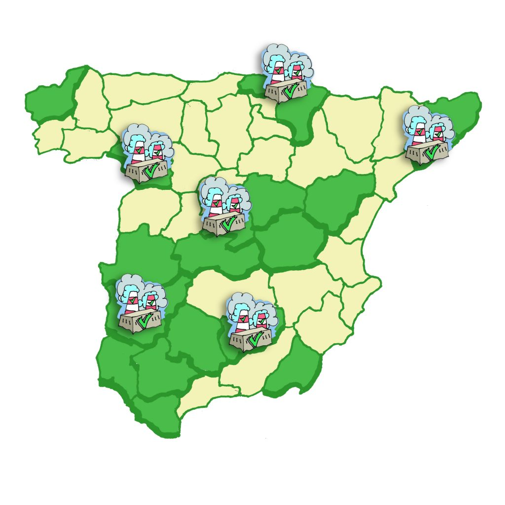 Mapa de trabajos de Cadena de Custodia